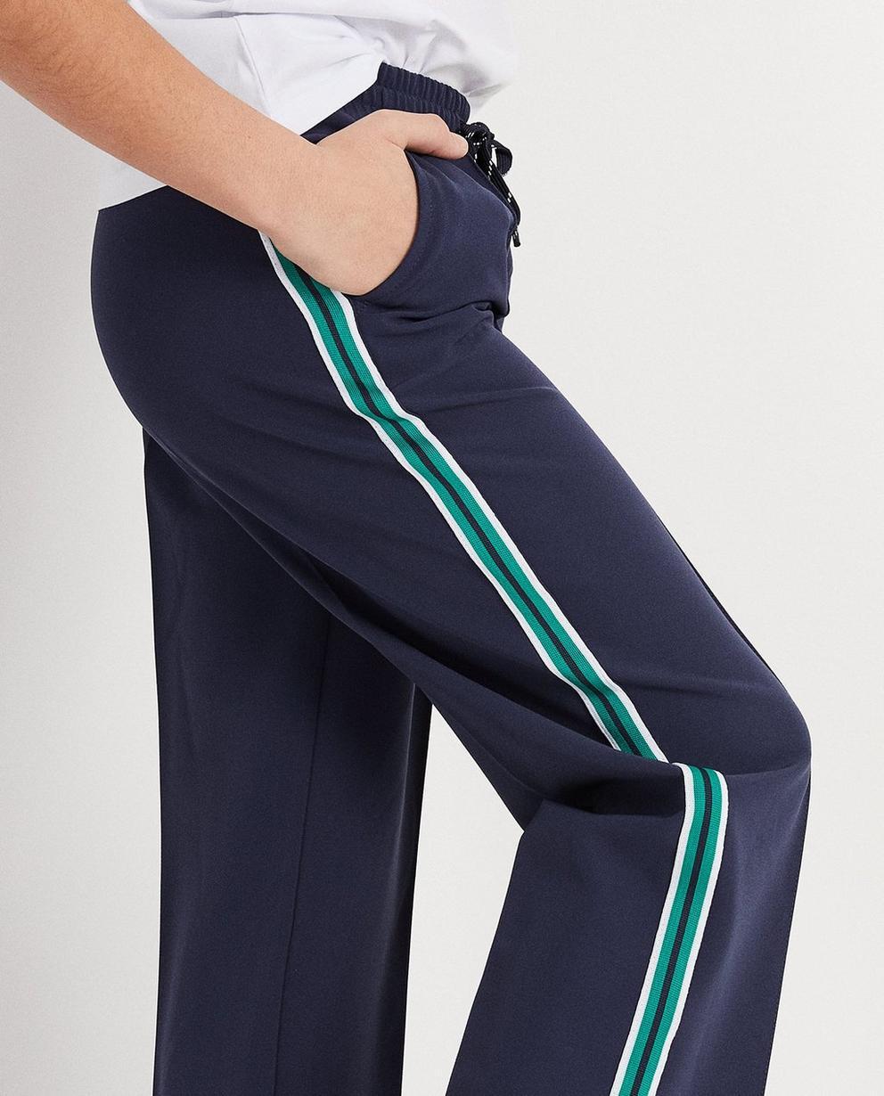 Shorts - Navy - Weiche Hose mit Streifen